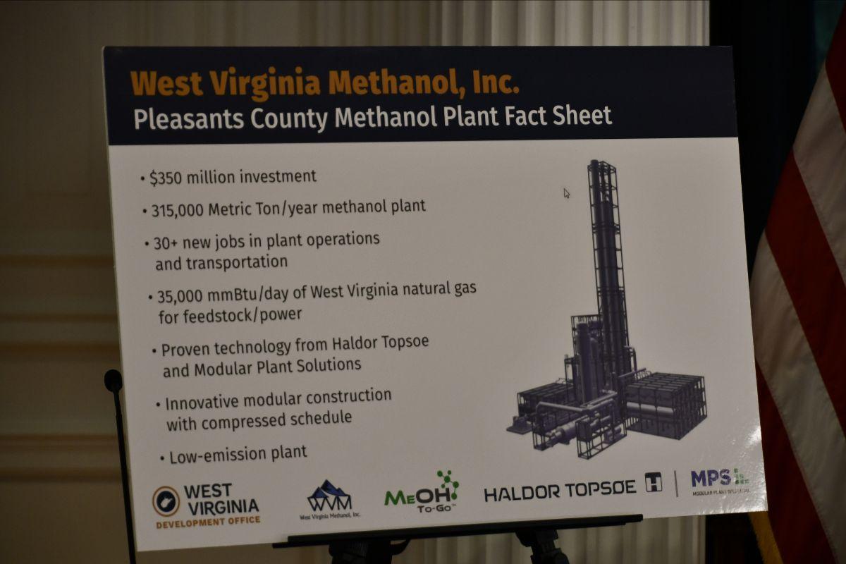 West Virginia Methanol Inc. to build $350 million methanol plant
