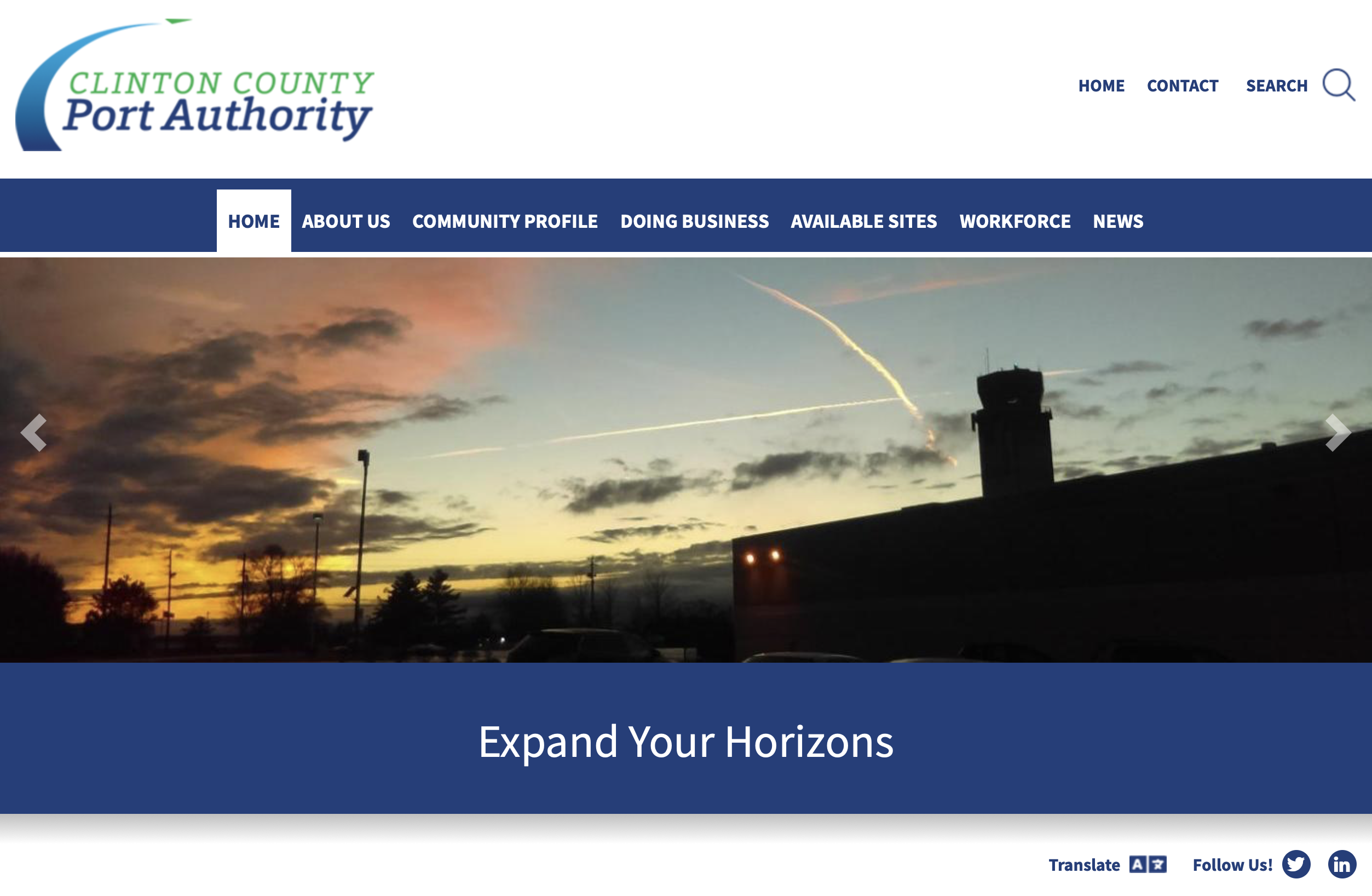 Clinton County Port Authority Launches New Website